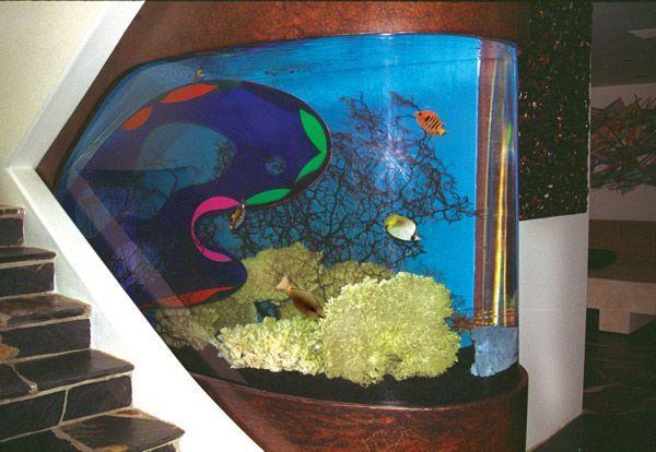 This Gorgeous Aquarium Was Custom Designed By Living Art Aquatic Design.  #luxeLA