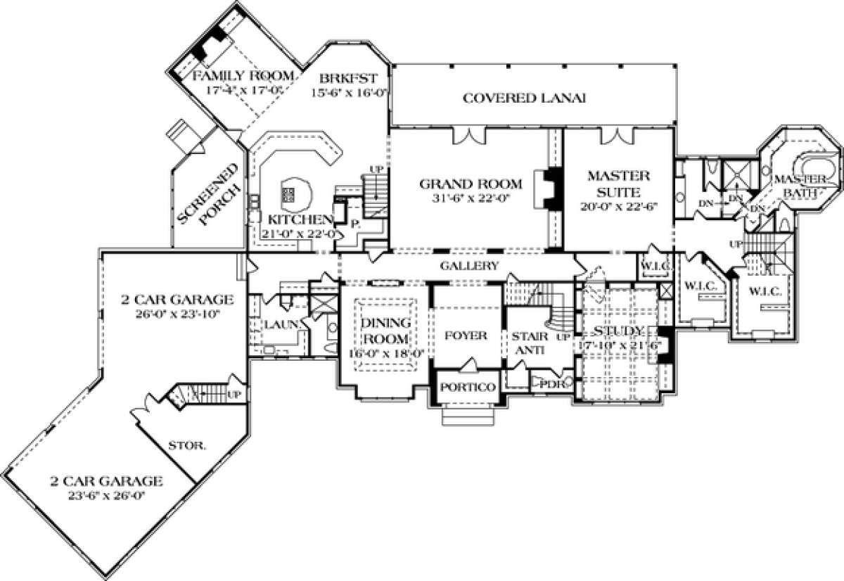 House Plan 3323 00562 Luxury Plan 9 377 Square Feet 6 Bedrooms 7 5 Bathrooms In 2021 Luxury Plan European House Plans How To Plan