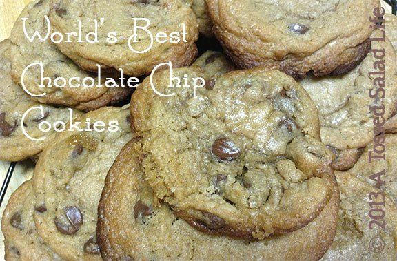 Amazing chocolate chip cookies! I make these with half chocolate and half white chocolate chips...so good!