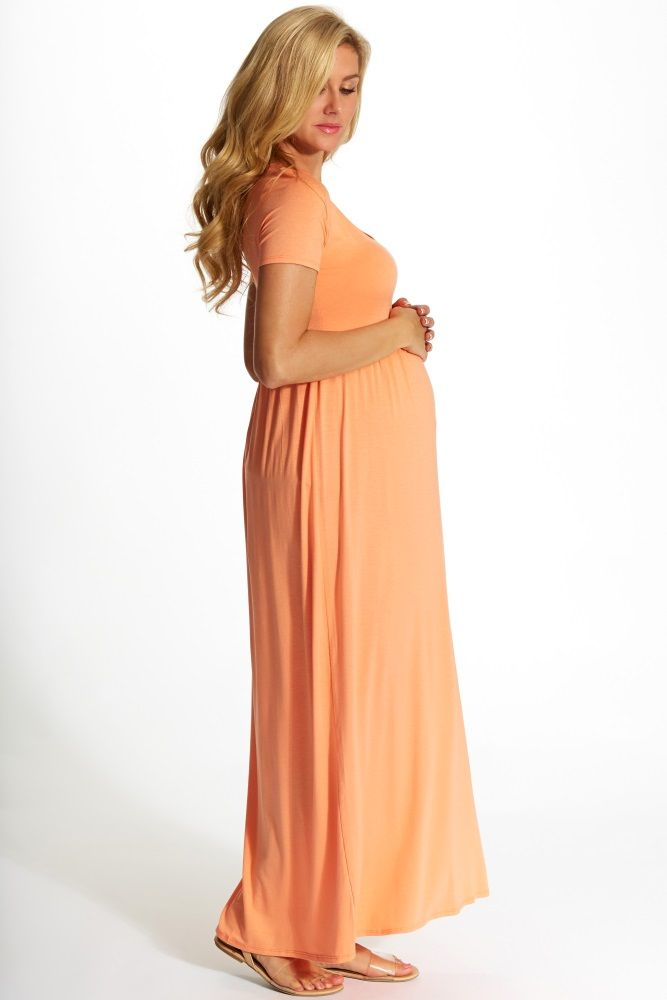 Cheap Maternity Maxi Dresses with Short Sleeves