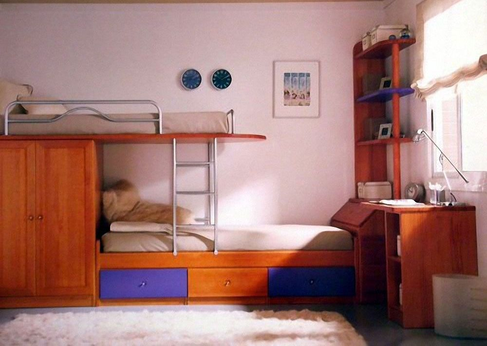 mueble dormitorio juvenil con cama litera de muebles