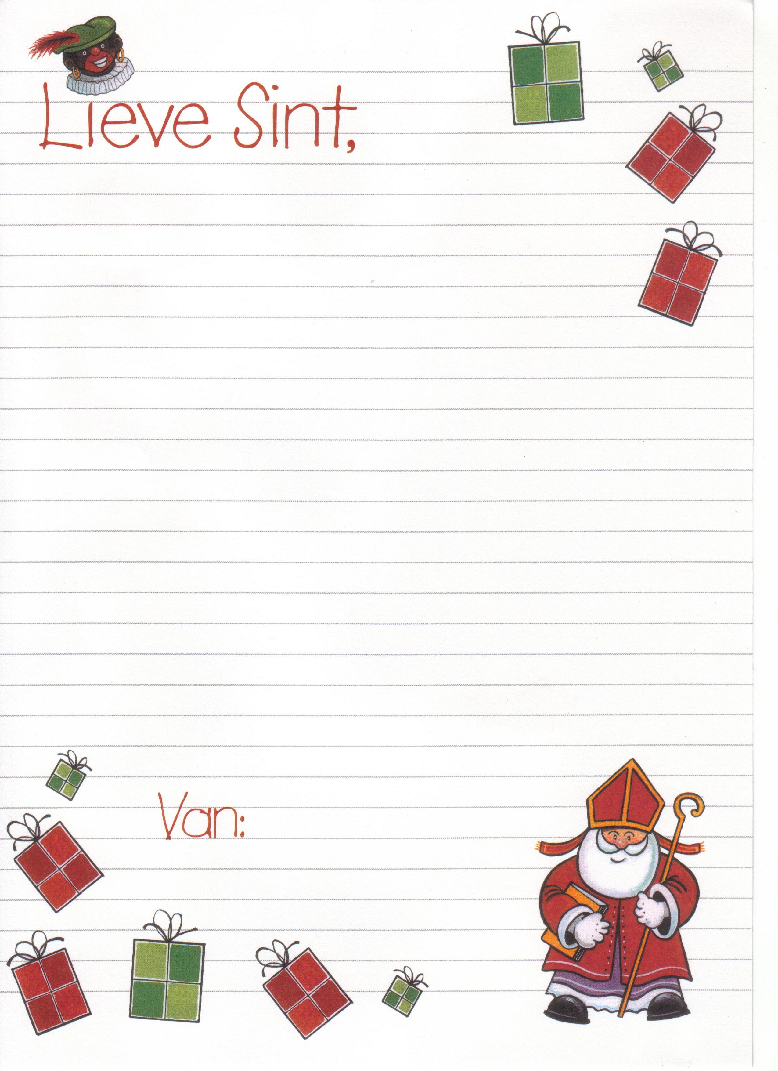briefpapier | sinterklaas - holiday, school en december