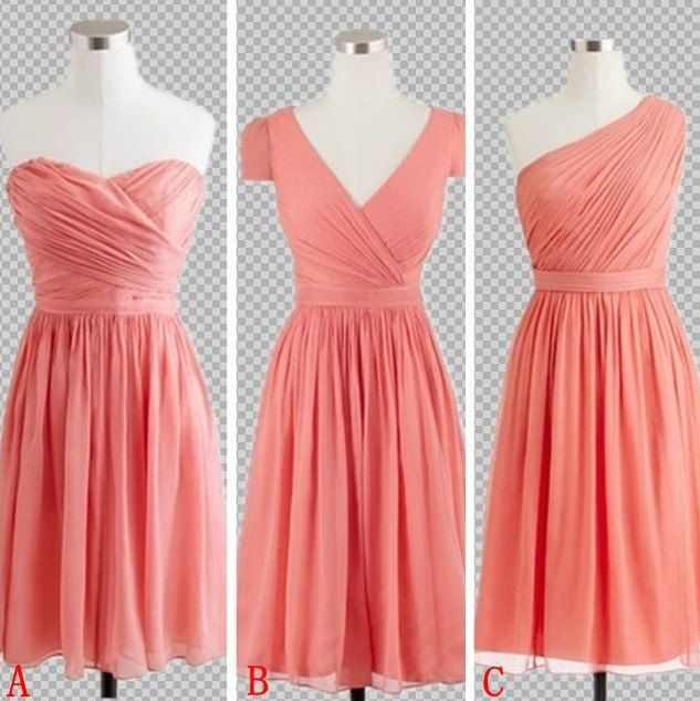 Cheap Custom Made Bright Coral Short Mini by MatinDresses on Etsy ...