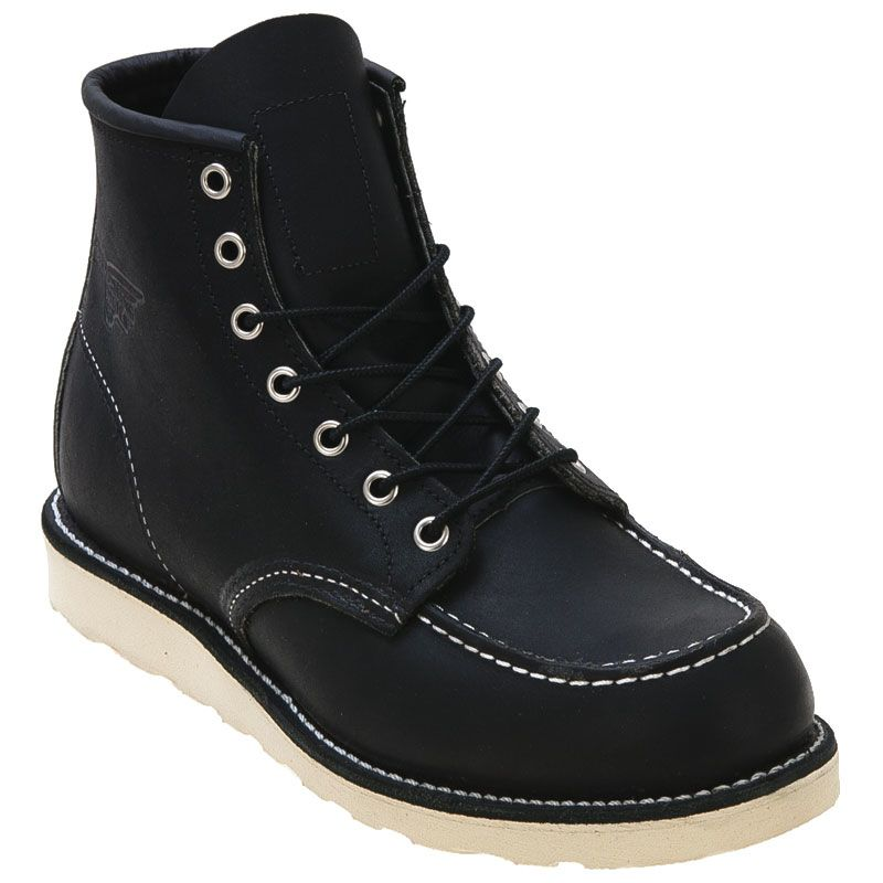 519ebb057b36 Shop Red Wings Shoes Classic Moc 9075 Black Leather Boots for Men at ...