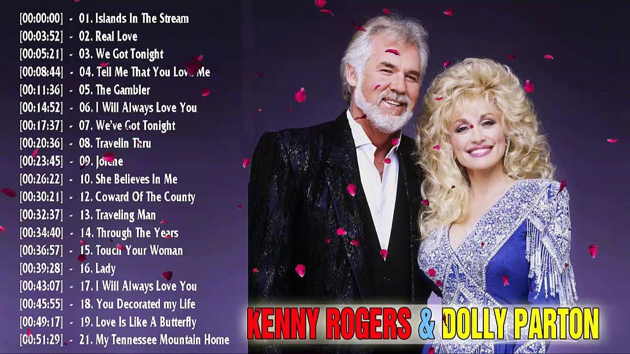 Kenny Rogers, Dolly Parton Grreatest Hits - Top 20 Best ...