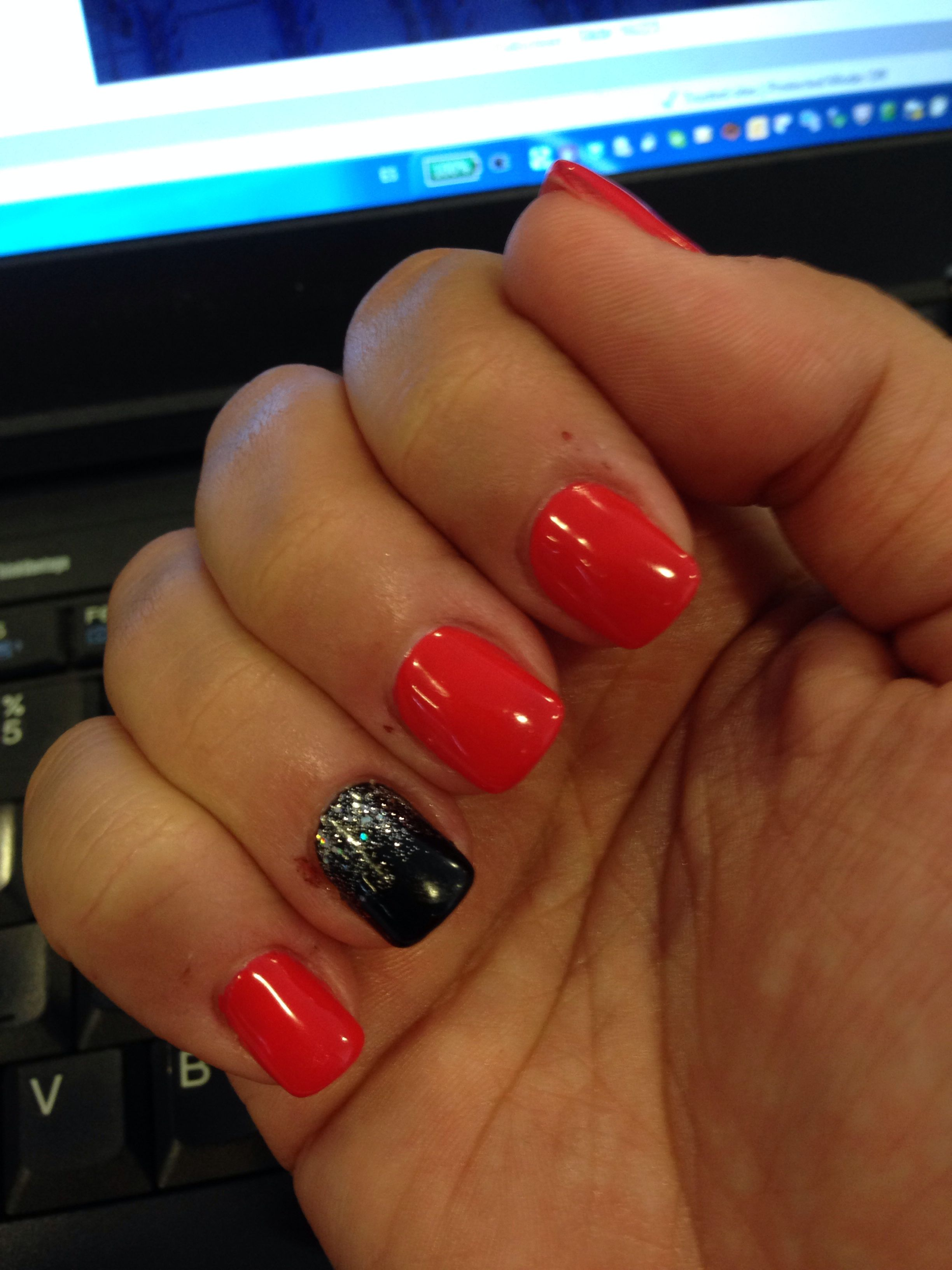 My nails today, trying something different