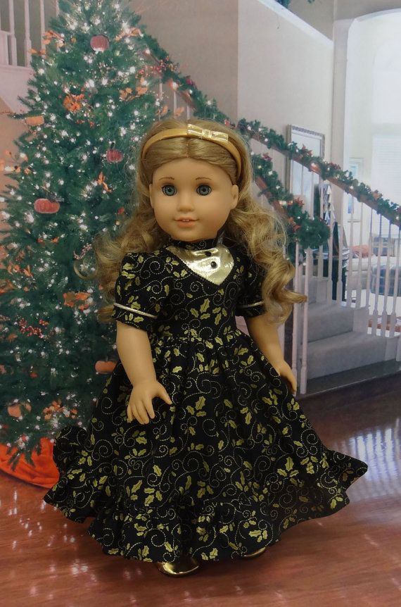 Evening Holly Victorian dress for American by cupcakecutiepie