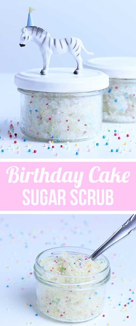Last minute Geschenke selbstgemacht - DIY Geschenkidee | Peeling Kosmetik Rezept - Zuckerpeeling selbermachen | Birthday Cake Sugar Scrub with Sprinkles