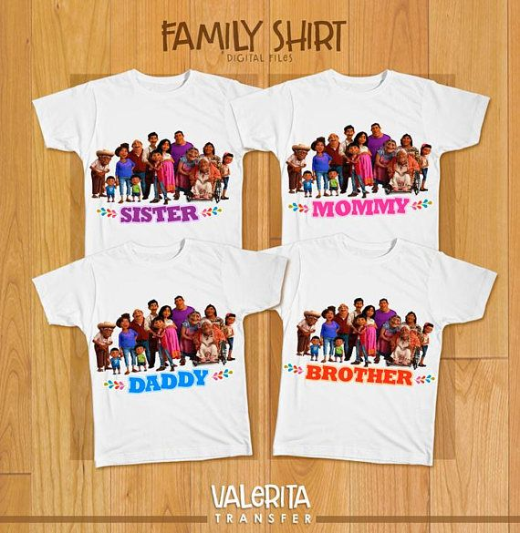 04c76740 4 Digital File Coco Disney birthday shirt Family Coco shirt Mommy Daddy  Brother Sister Iron On