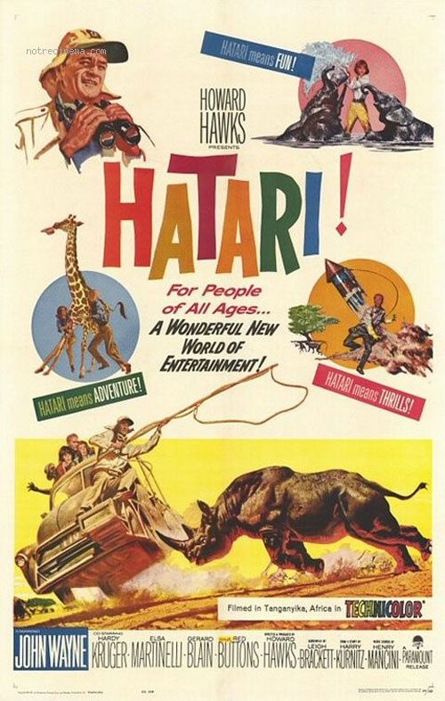 hatari les jaquettes de hatari sont au format pdf c 39 est gratuit john wayne movies. Black Bedroom Furniture Sets. Home Design Ideas