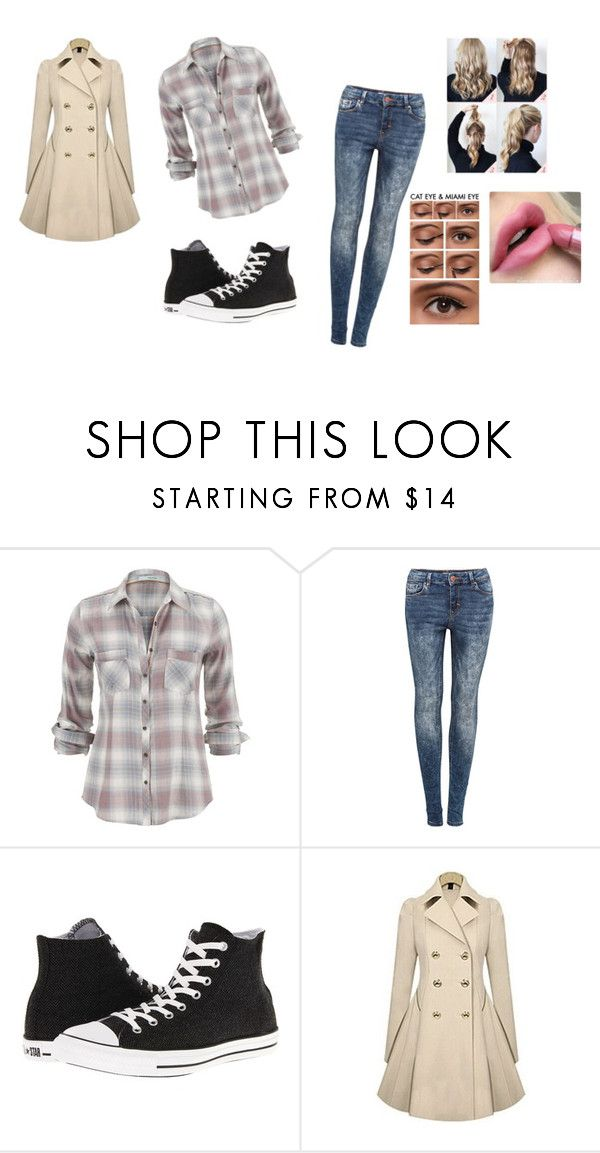 """""""Untitled #1036"""" by adriannarussell ❤ liked on Polyvore featuring Pull&Bear and Converse"""