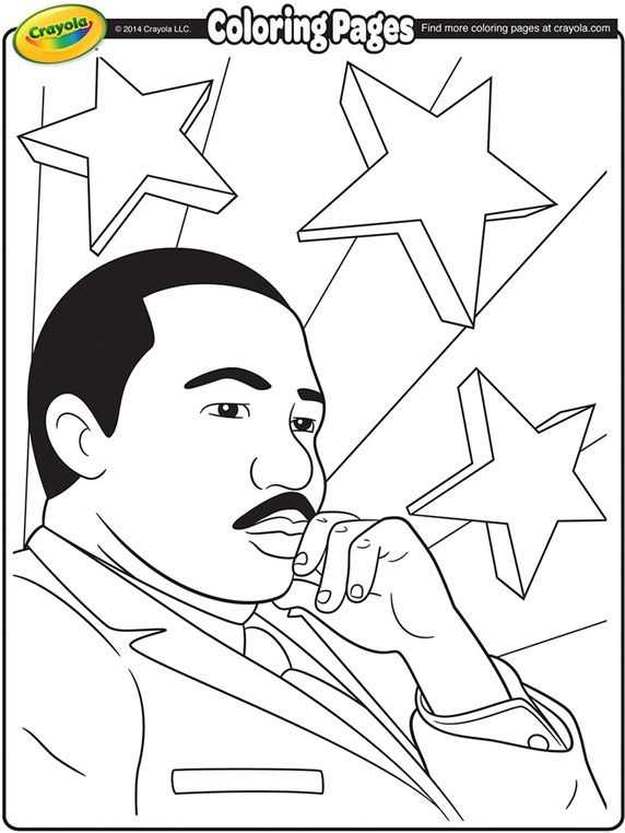 Martin Luther King Jr on crayolacom african Pinterest