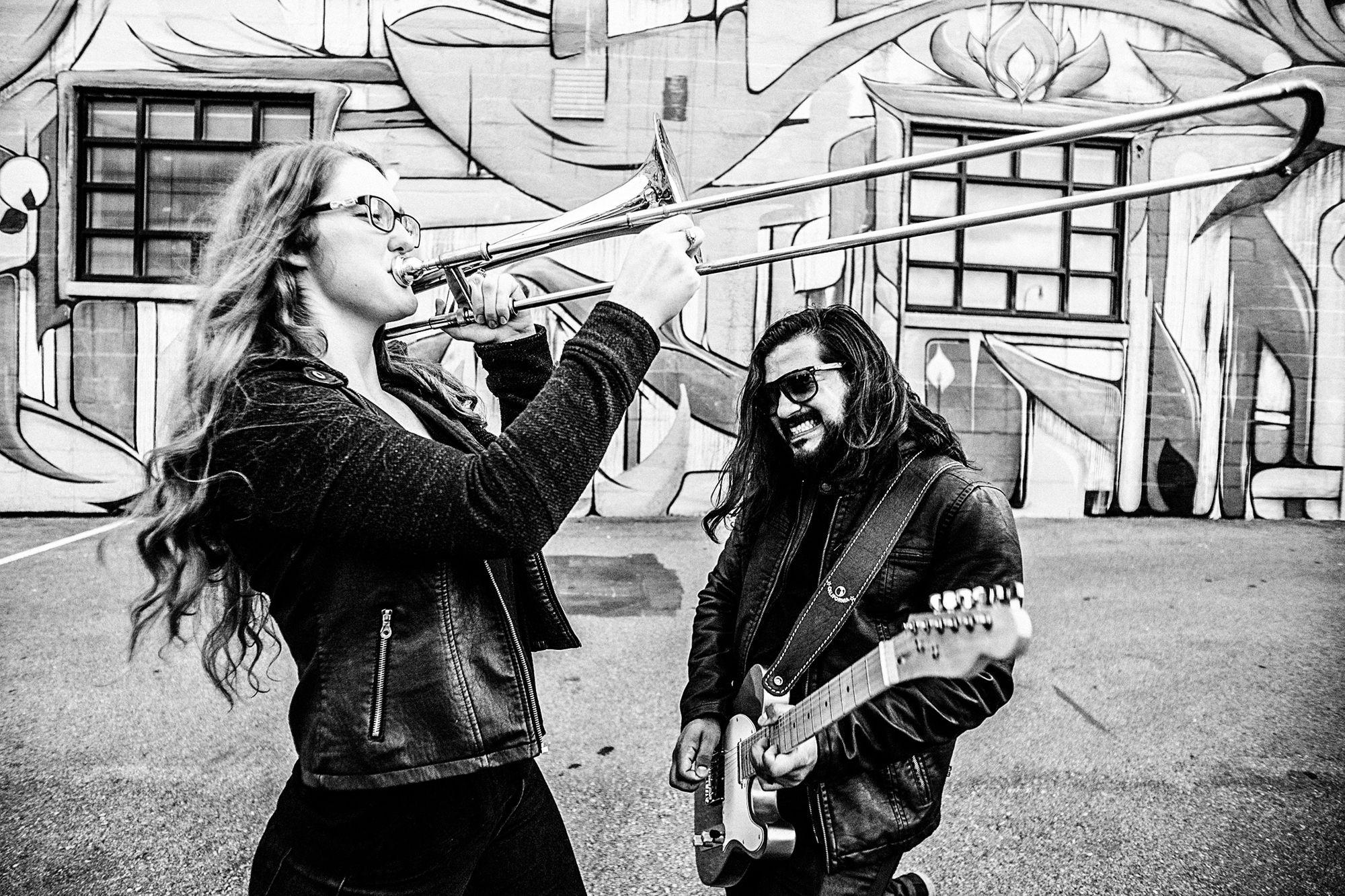 We Rock Together my love! ❤✨🎼🎷🎺🎻🎸✨❤ Trino & Hanna . . . . . . . . . #velasstudio #nashville #communityovercompetition #RooftopWedding #Madrid #Valdosta #engagement #weddingphotographer #georgiaphotographer #engagementphoto #musicians #Ventanas #huge #trumpet #creativeentreprenuer #soloverly #savannahweddingphotographer #southernweddings #atlantaweddingphotographer #charlestonweddingphotographer #guitar #Atlantawedding #southernbride