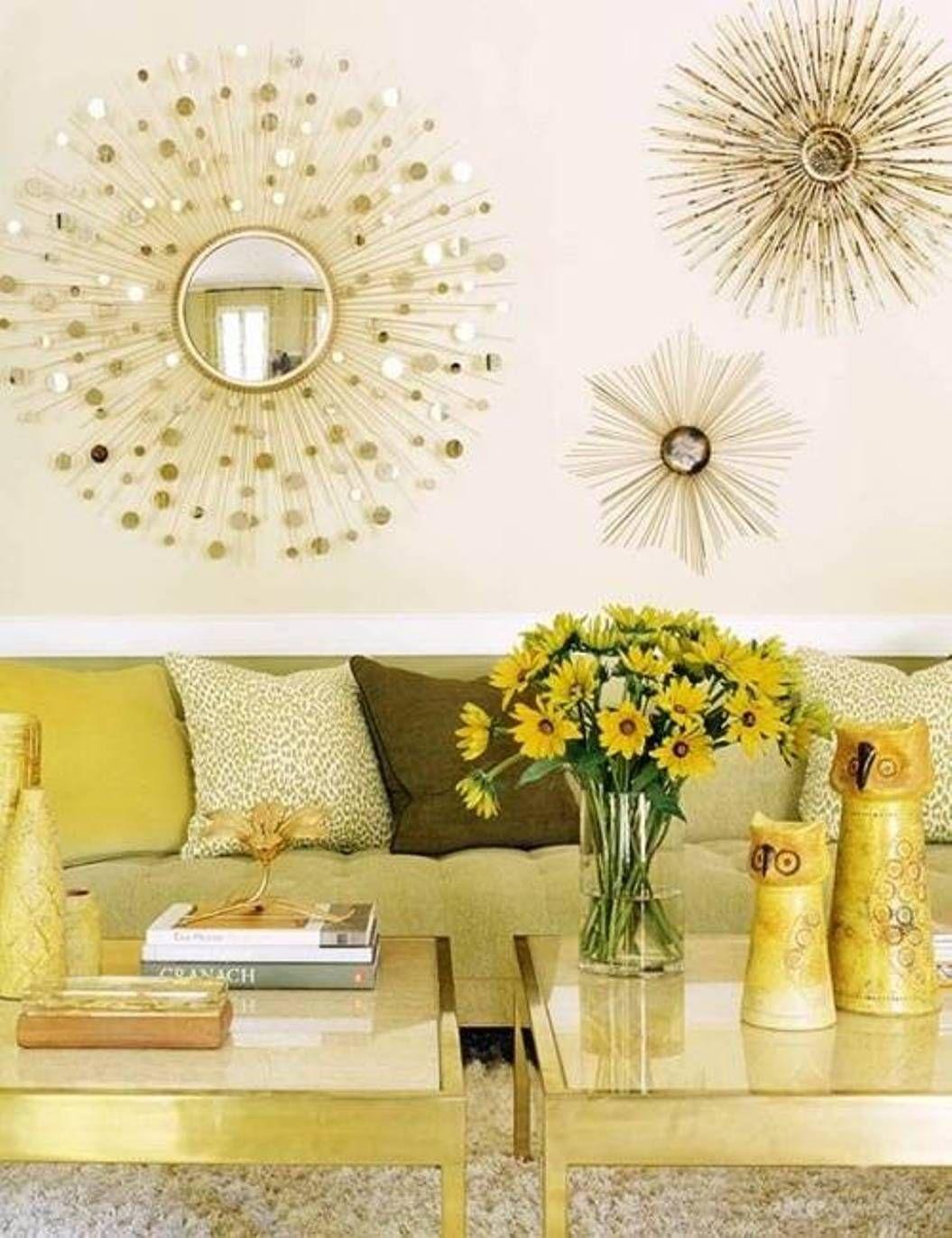 Interesting star burst mirrors   Over The Sofa   Pinterest ...