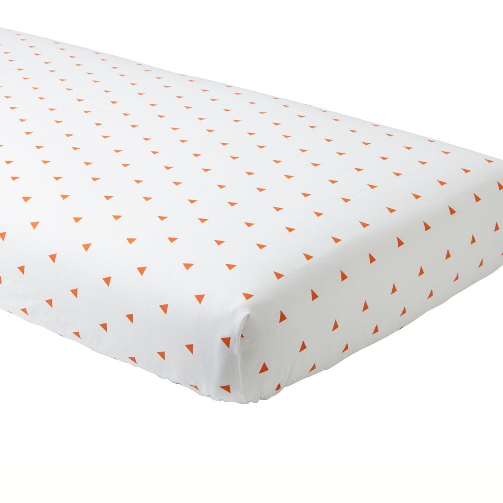 organic orange triangle crib fitted sheet crib sheets crib and