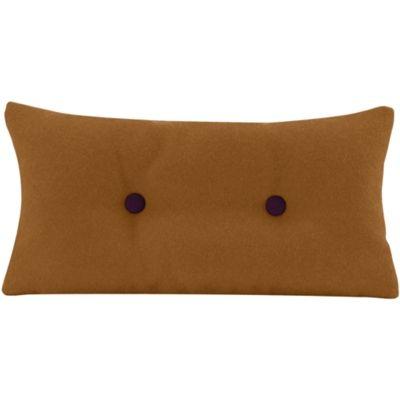 Coussin Pilo - tabac & boutons violets -personnalisable - 22€