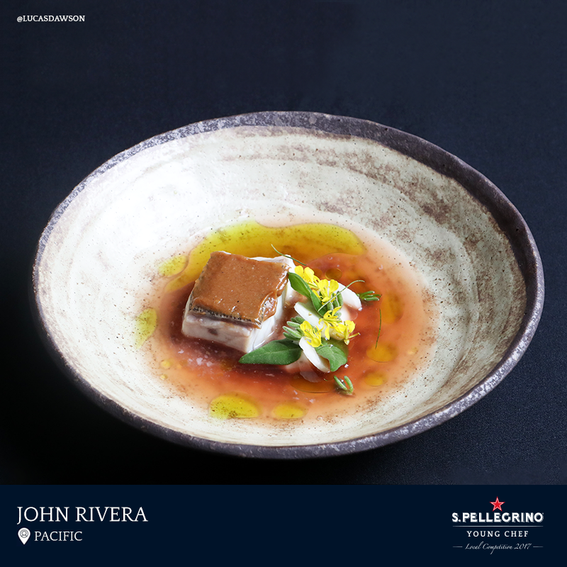 John Rivera will represent Australia the region with his signature dish entitled 'Sinigang,' featuring Hapuka and tomato, calamansi and taro.