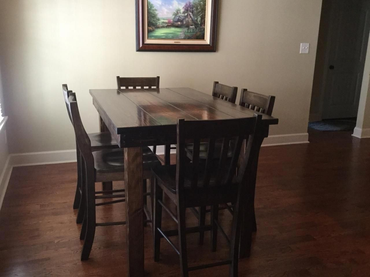 Farmhouse table in counter height tables pinterest