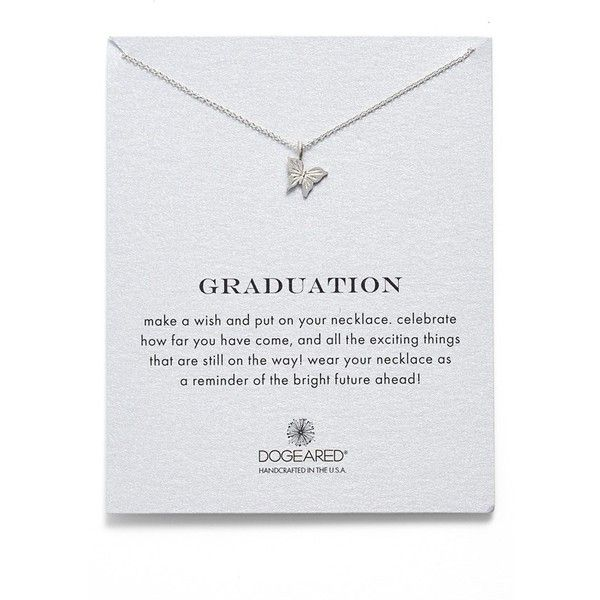 Dogeared 'Graduation' Butterfly Pendant Necklace (¥5,140) ❤ liked on Polyvore featuring jewelry, necklaces, silver, butterfly wing pendant, butterfly pendant, butterfly charm, 14k pendant and anchor pendant necklace