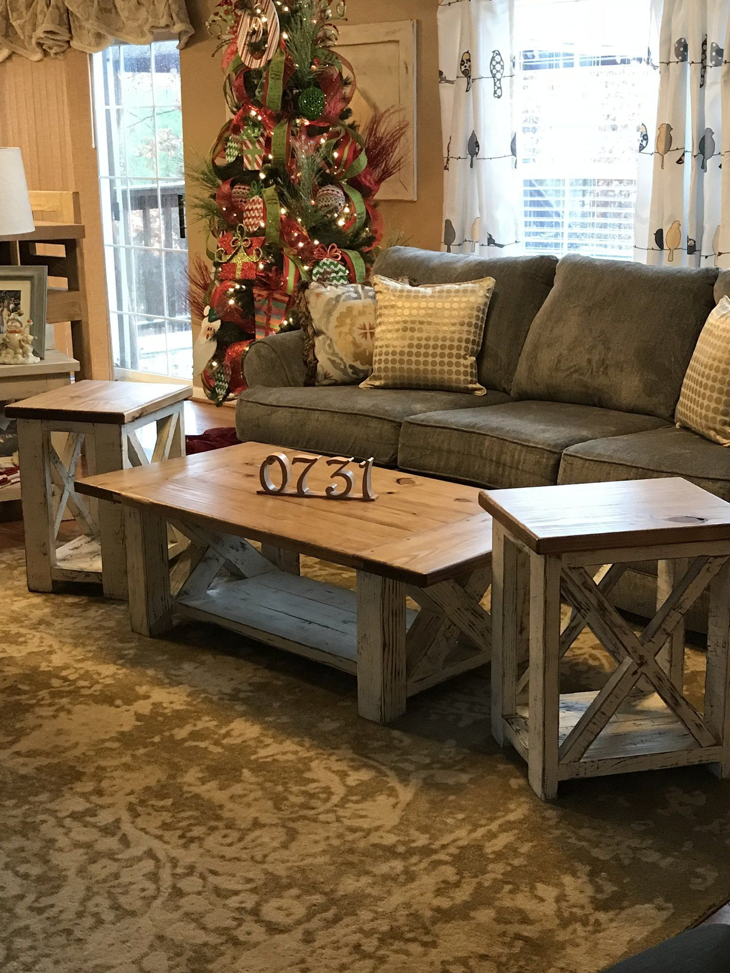 Best Farmhouse Coffee Table And End Table Set This Is A 400 x 300