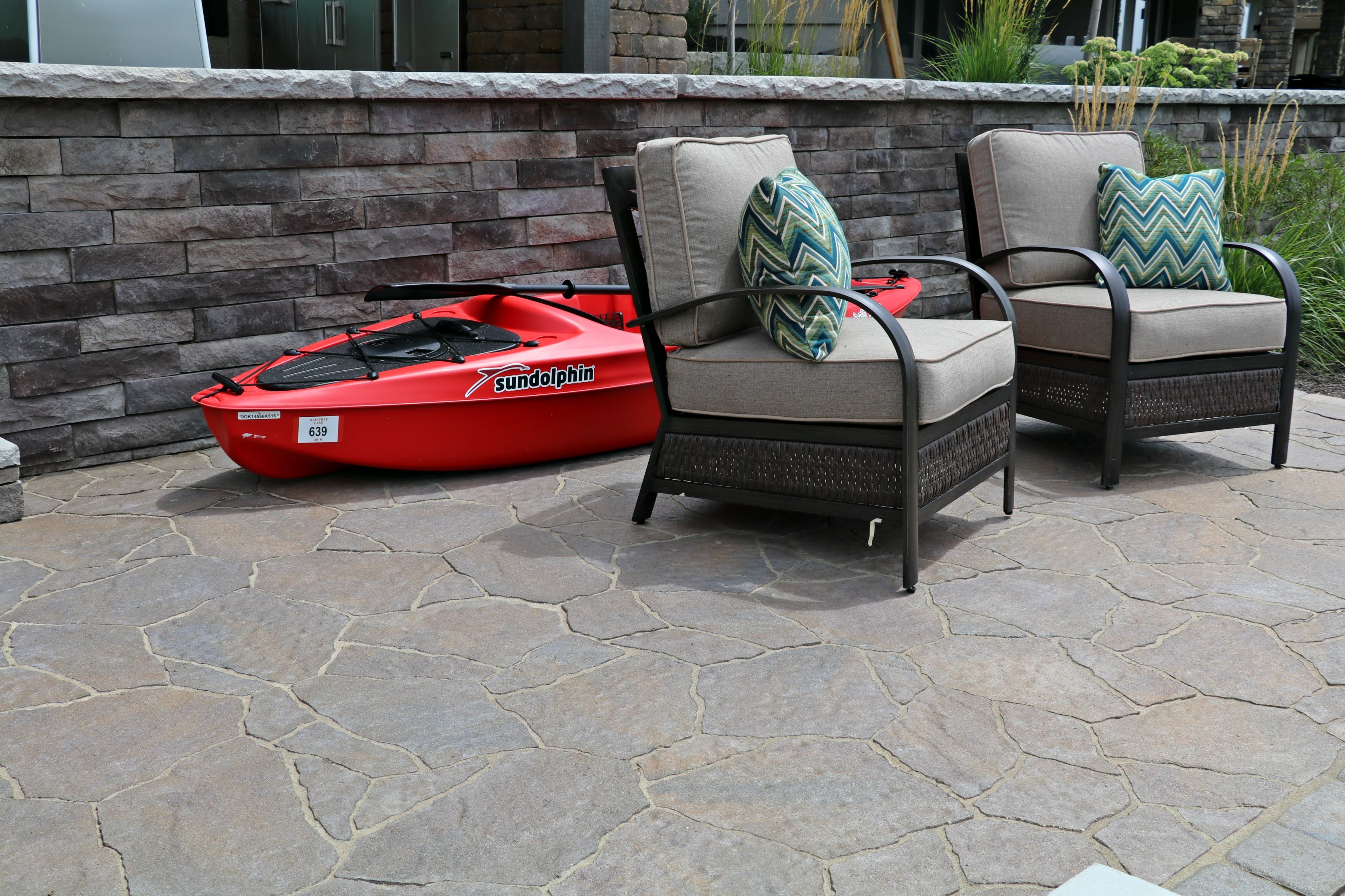 How Fun Is This Outdoor Living Space Lakefront Patio