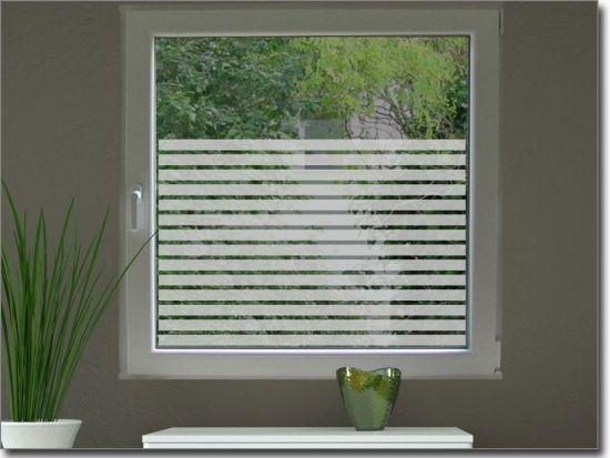 Milchglasfolie mit 3 cm Streifen Pinterest Frosted window - folie für badezimmerfenster