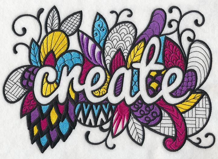 Crafty Create (Blackwork) design (K9563) from www.Emblibrary.com