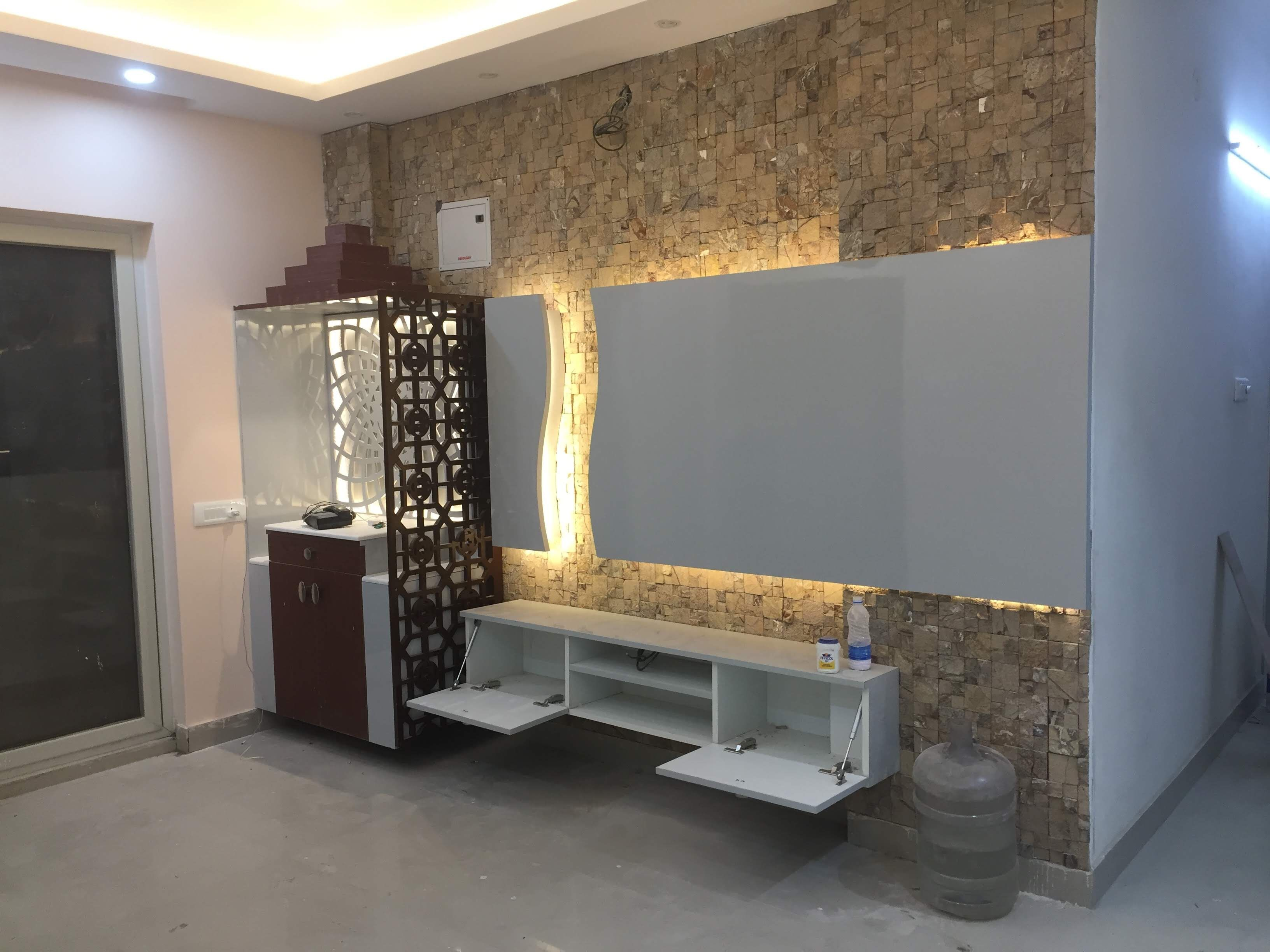tv unit cm pooja unit with stone cladding room door on incredible tv wall design ideas for living room decor layouts of tv models id=23723