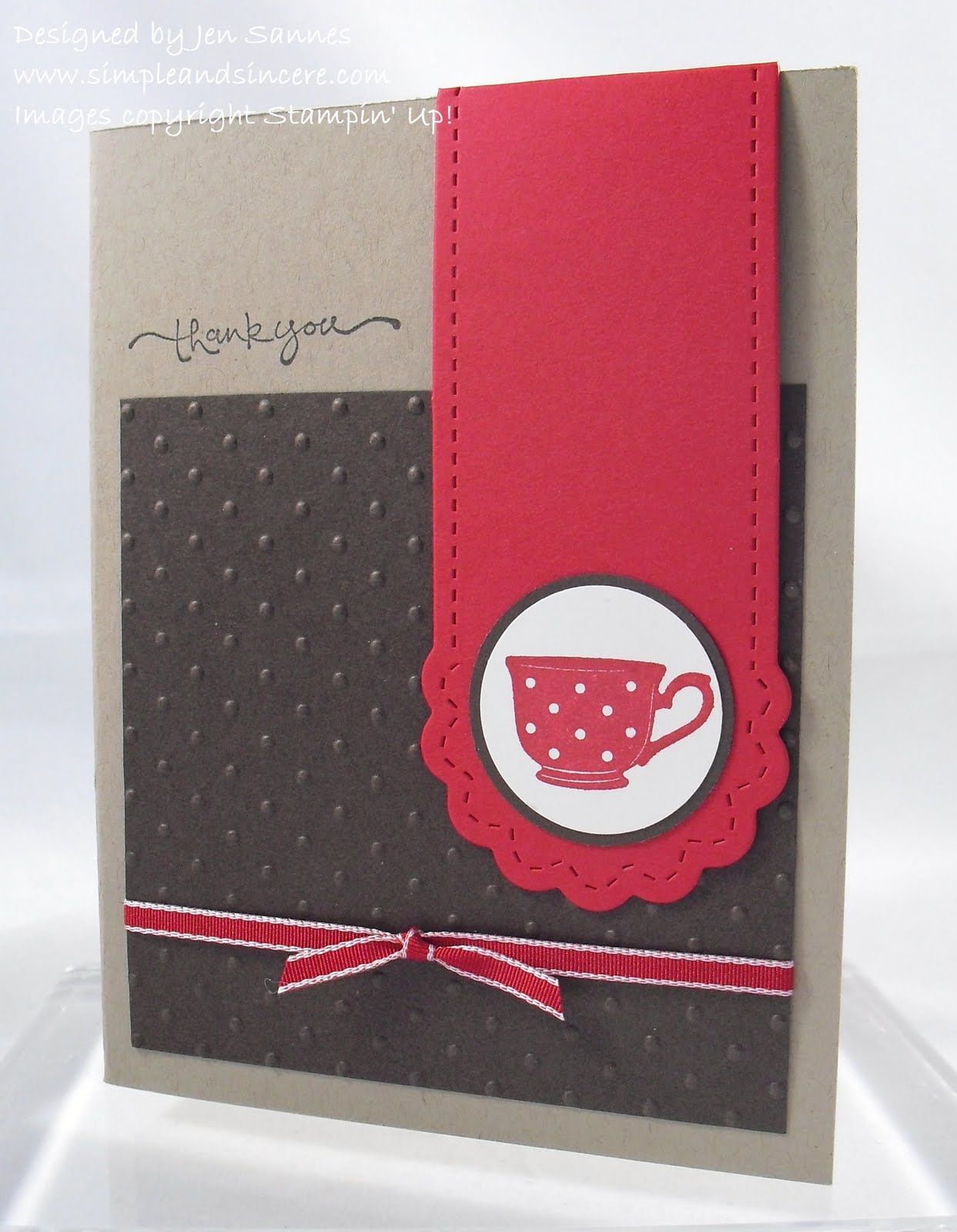 Simple & Sincere: Tiny Tea Cup Bookmark Card