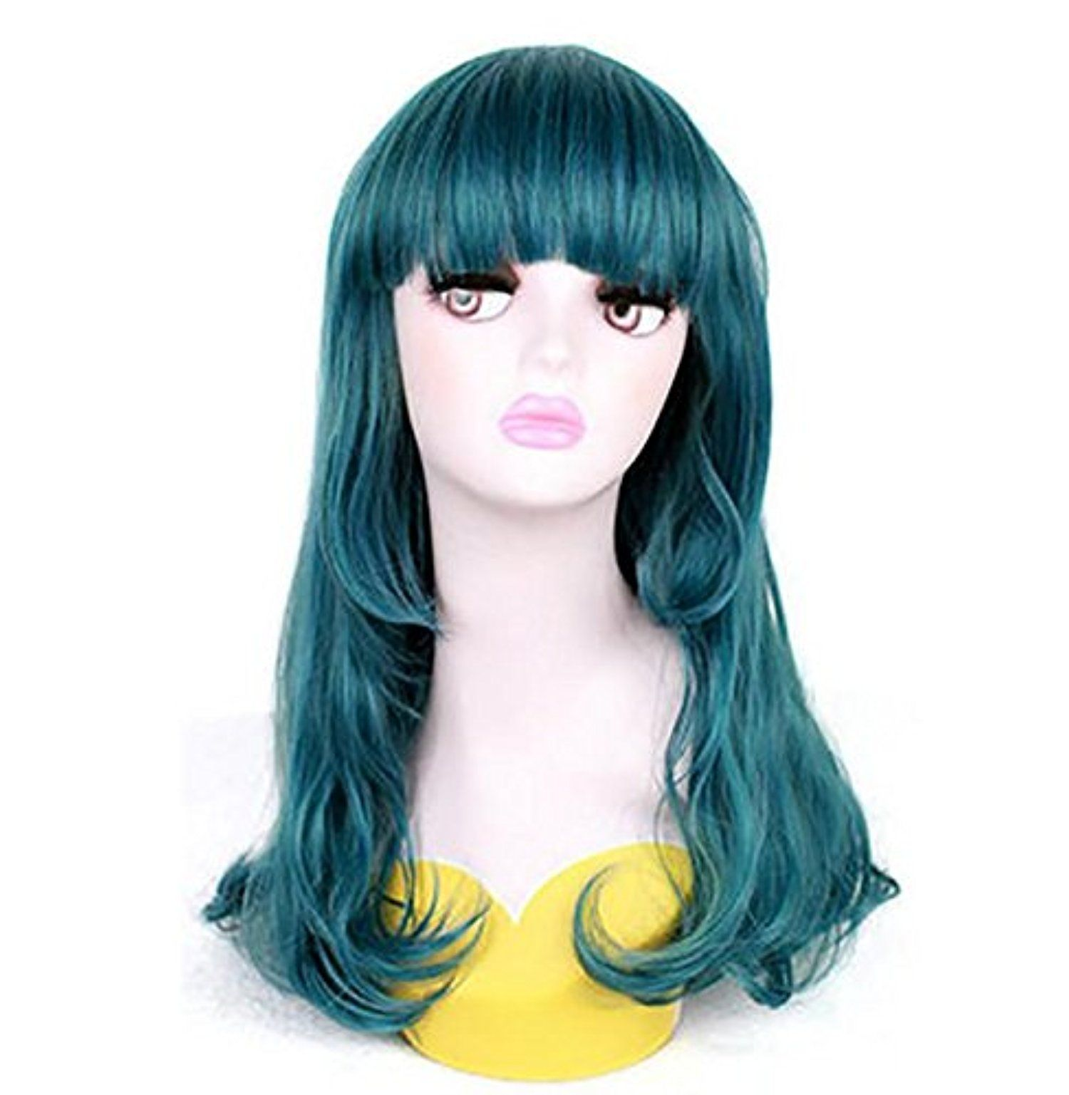 Haha temperament in daily wig green scroll awesome