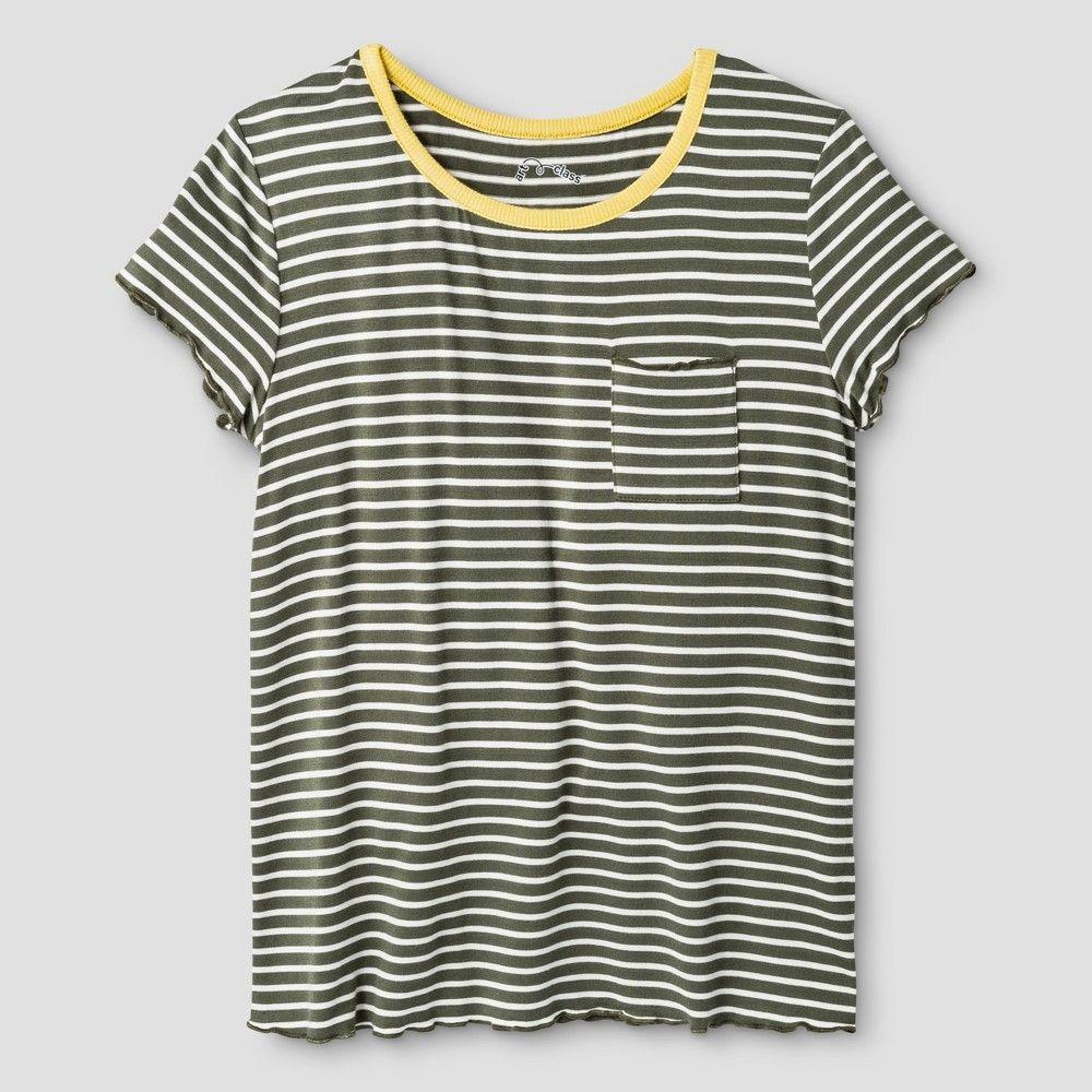 61934af4809 Girls  Pocket T-Shirt Art Class - Olive (Green) XL