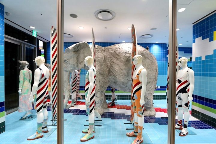 Awesome Thom Browne Surf Shop Installation, Tokyo U2013 Japan