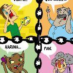 Caricatura @Alexander Almarza Cadena de favores