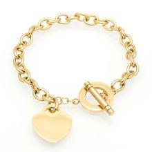 Hot Luxury Famous Brand Love Bracelet Fine Jewelry Heart Tif Bracelet For Women Gold Charm Bracelet pulseiras Fashion Jewelry(China (Mainland))