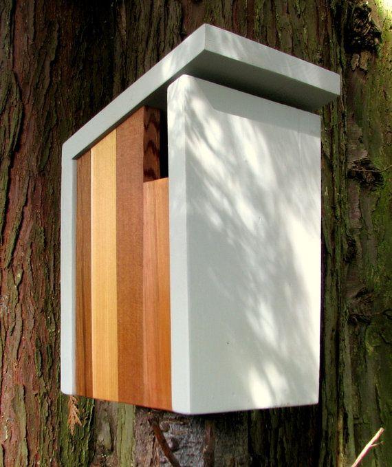 Vogelhaus Modern birdhouse modern minimalist the bird box natürliche textur