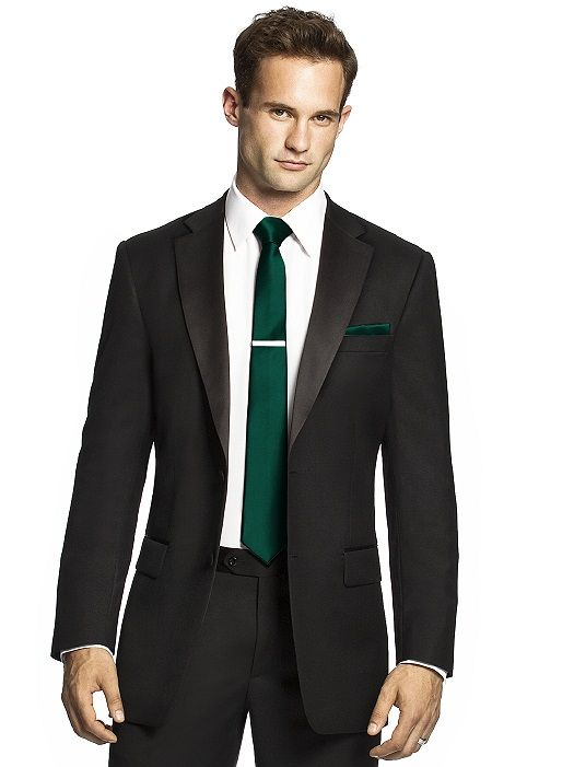 445591be9bb9 Men's emerald green skinny tie and black suit | August 2014 <3 in ...