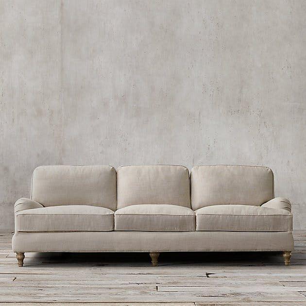 3 995 84 English Roll Arm Upholstered Sleeper Sofa Restoration Hardware