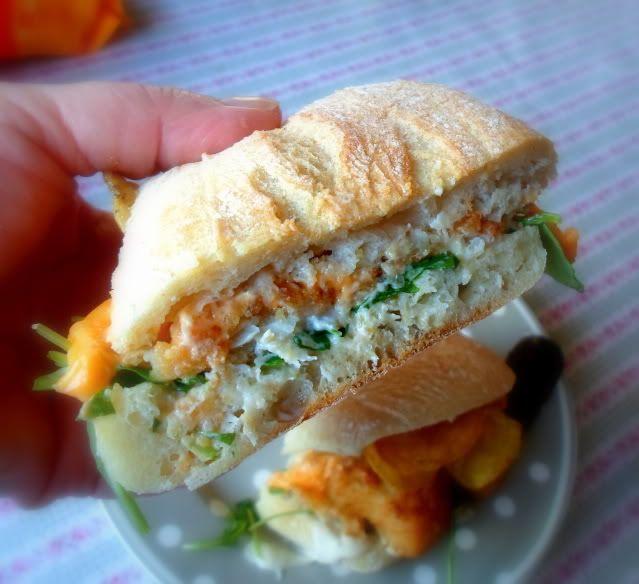 Hairy fish sandwitch