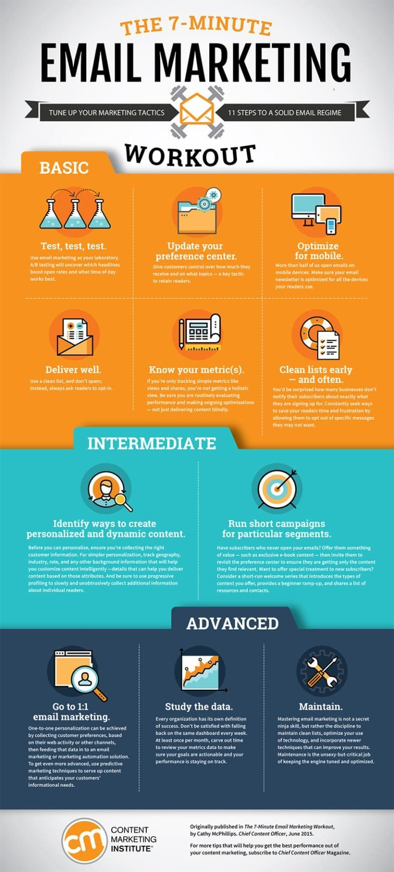 11 Steps To Improve Your Email Marketing That Take Just 7 Minutes Infographic Social Medi Infographic Marketing Email Marketing Content Marketing Institute