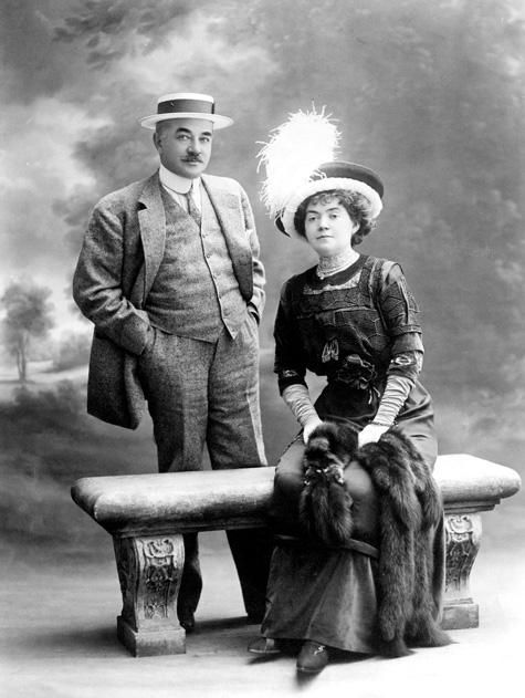 Milton Snavely Hershey and wife were to have returned home on the Titanic and had even given a deposit of $300.00 for their tickets.  Fate intervened when business prompted them to return earlier on the ship, Amerika. If not for fate there would be no Hershey's Chocolate
