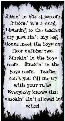Lyrics Smokin In The Boy S Room Motley Crue