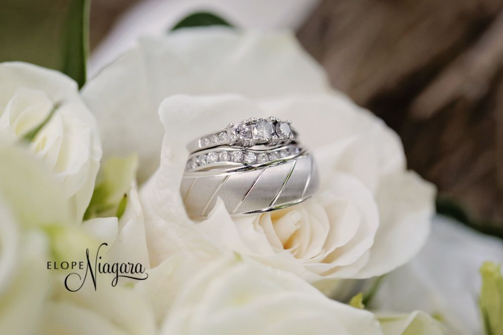 Beautiful Silver Wedding Rings At The Little Log Wedding Chapel Wedding Rings Silver Wedding Rings Wedding Officiant