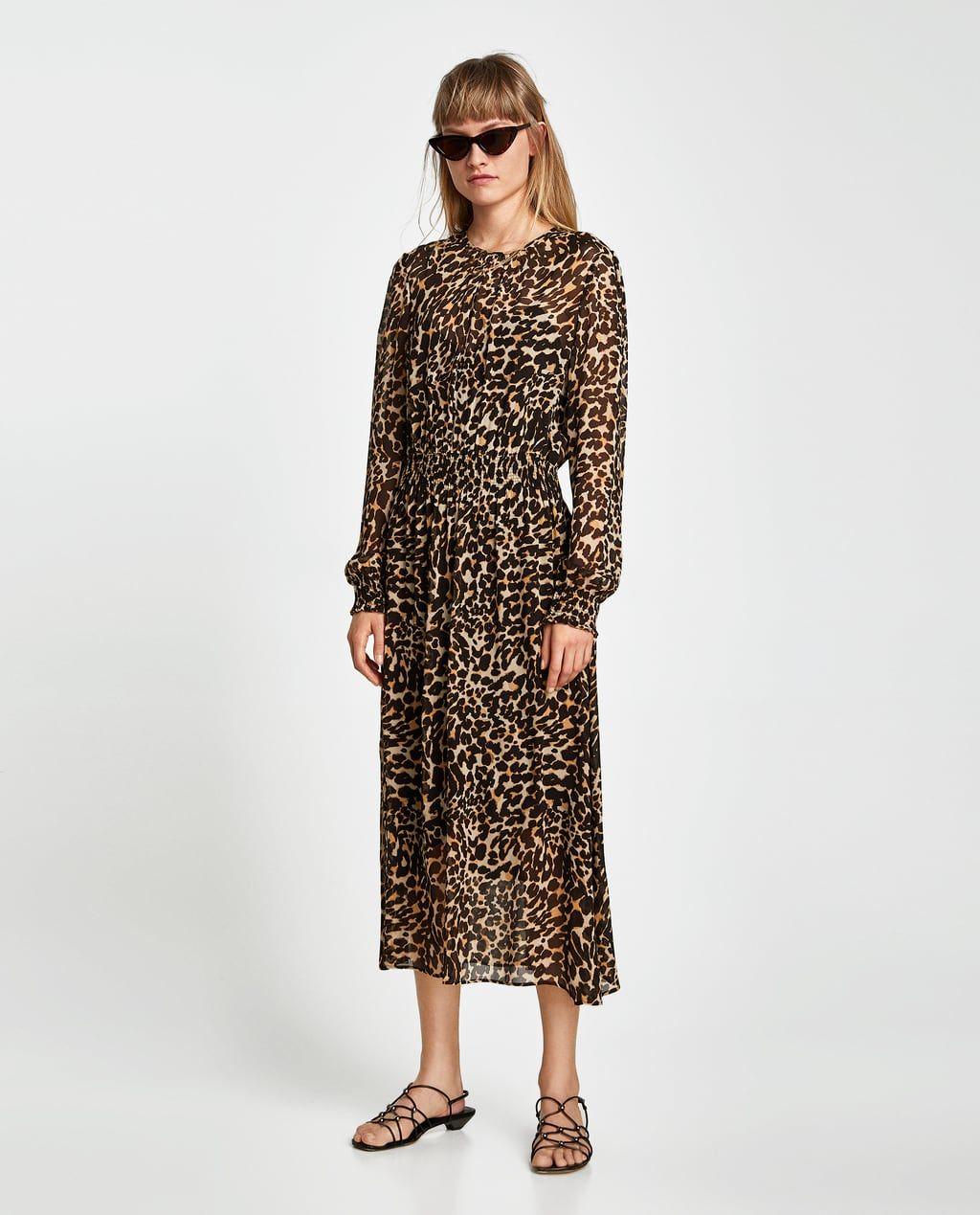 ZARA - WOMAN - ANIMAL PRINT DRESS  Kleider damen, Damenkleider