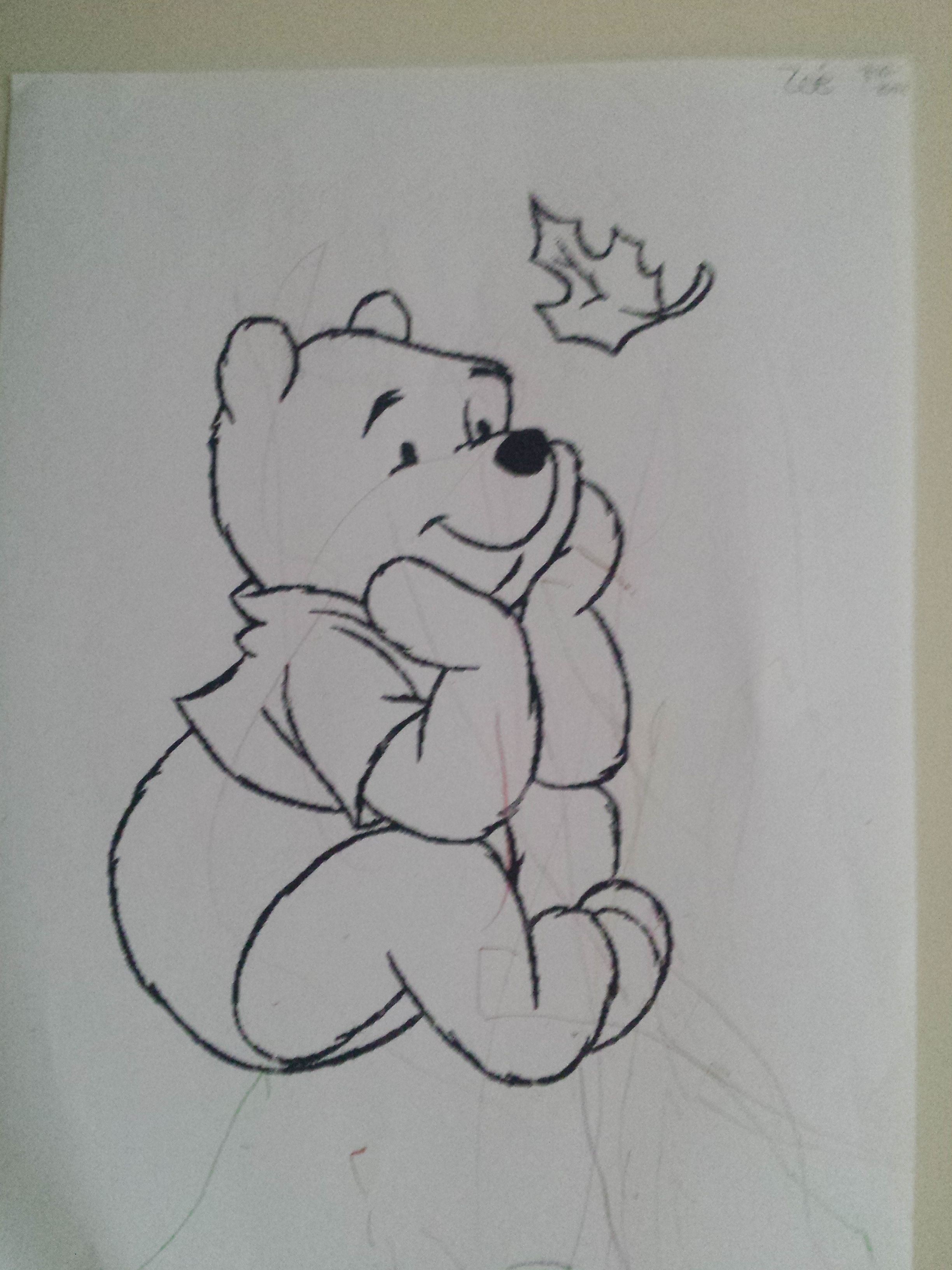Kleurplaat Winnie De Poeh In De Herfst Bear Coloring Pages Cartoon Coloring Pages Thanksgiving Coloring Pages