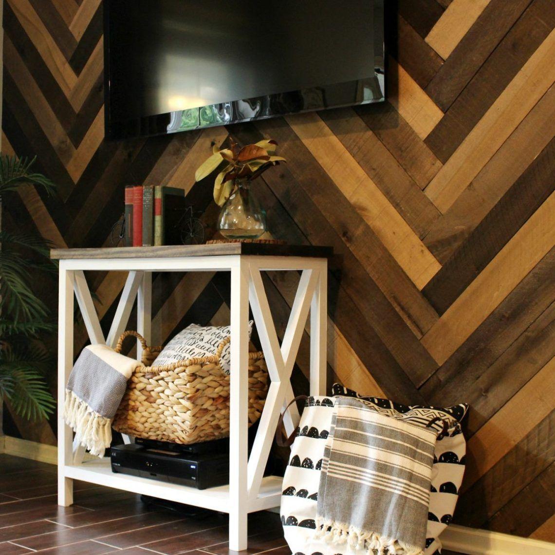 How to Install a DIY Herringbone Barn Wood Wall (With