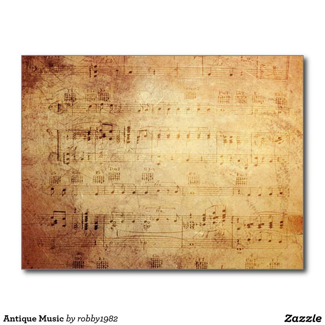 Antique Music Postcard