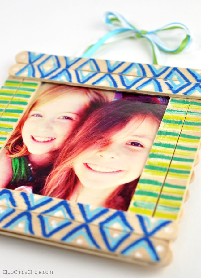 Tween Decorated Homemade Frame | crafts | Pinterest | Escolares ...