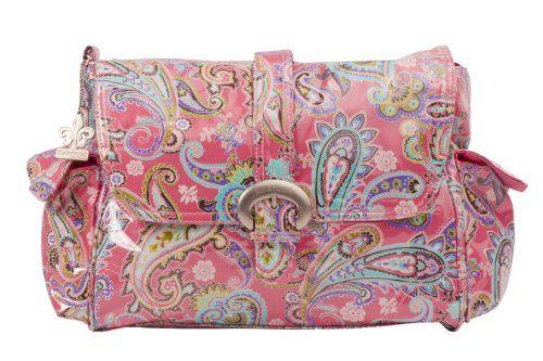 Kalencom - Bolso cambiador, diseño plastificado con hebilla multicolor Cachemir - rosa