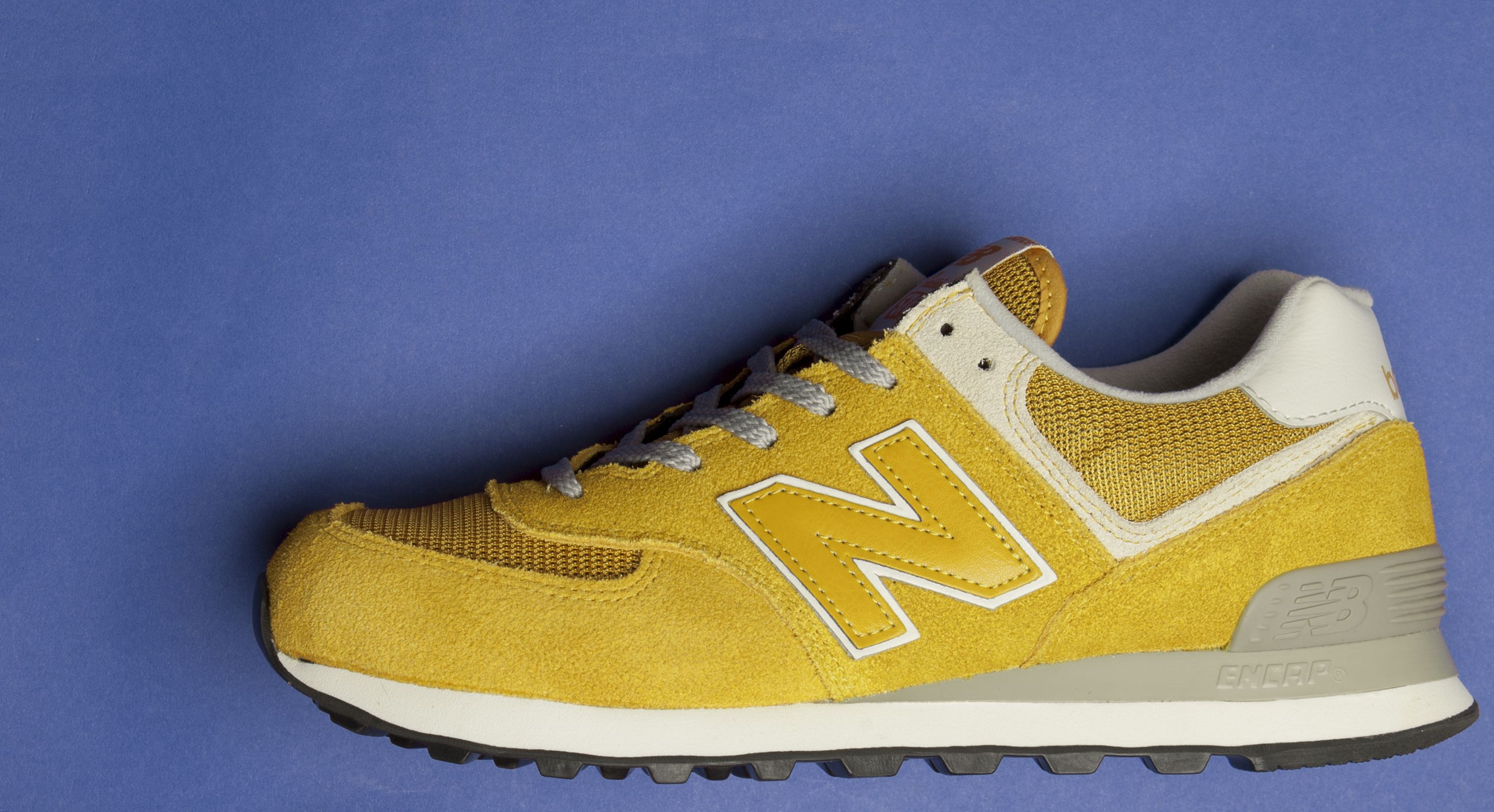 big sale d4805 d73b2 New Balance 574 Mustard Trainers | Classic Trainers | New ...