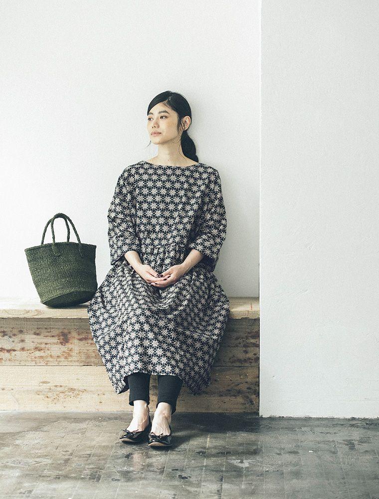 リクエストにお応えして eka インドの手しごとブロックプリントワンピース再販売 ナチュラル服や雑貨のファッション通販サイト ナチュラン ファッション ファッションスタイル ワンピース